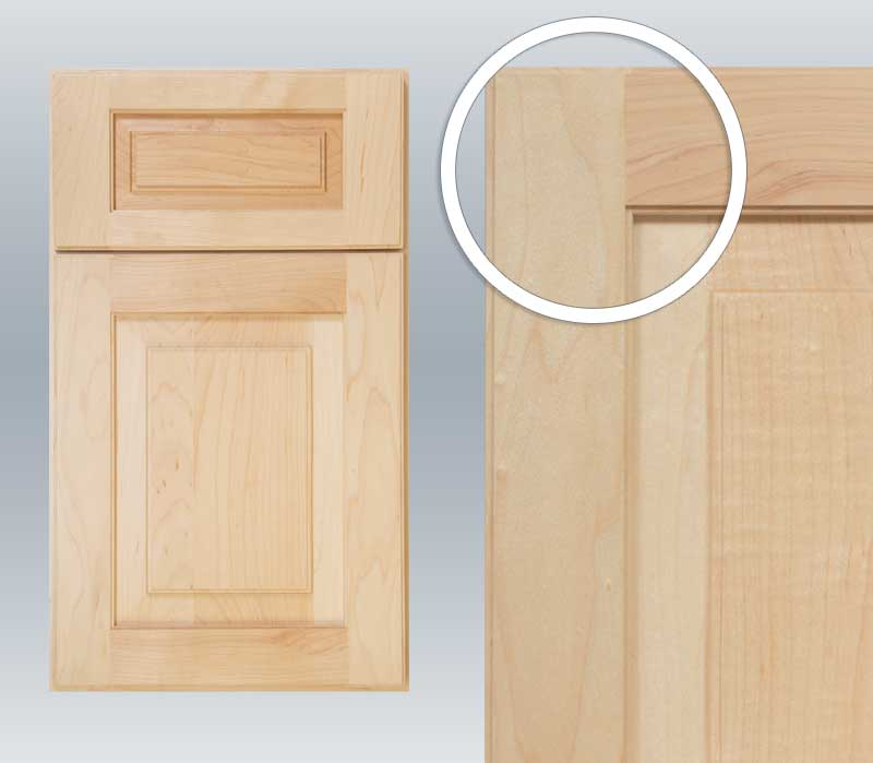 Cope and stick cabinet door
