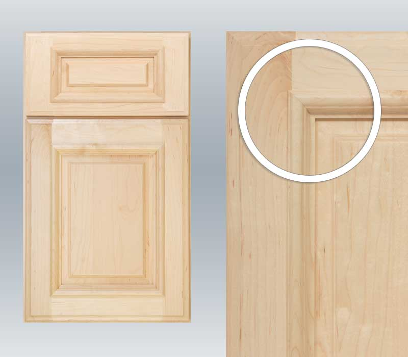 Cabinet door with applied moulding